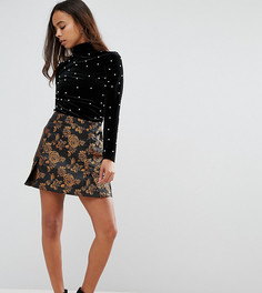 Мини-юбка с вышивкой Fashion Union Petite - Мульти