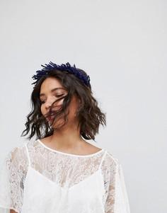 Венок на голову с сухоцветами лаванды Rock N Rose - Фиолетовый
