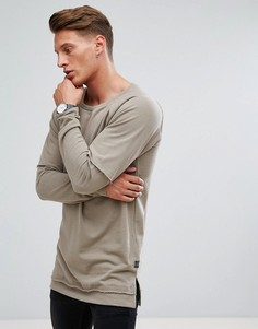 Свитшот с отделкой Jack & Jones Originals - Серый