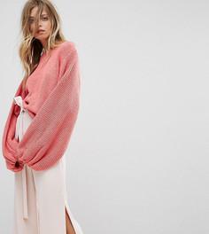 Джемпер ручной вязки OneOn - Розовый