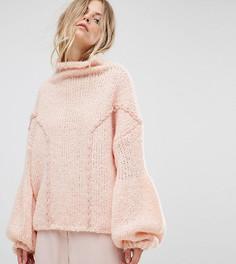Мягкий джемпер крупной вязки OneOn - Розовый