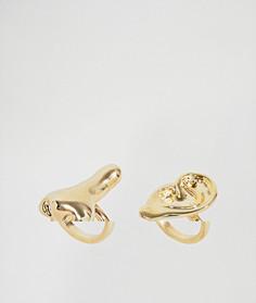 2 кованых кольца Monki - Золотой
