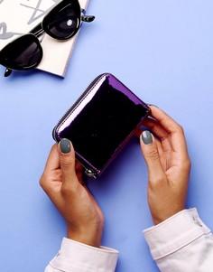 Блестящий виниловый кошелек Monki - Фиолетовый