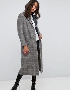 Пальто в клетку Glamorous - Серый