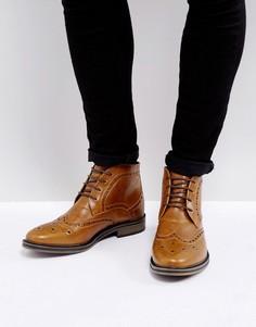 Светло-коричневые ботинки броги New Look - Рыжий