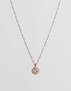 Ожерелье с цветком и кристаллами Ted Baker Sirou - Золотой