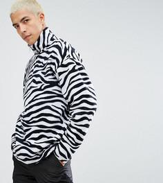 Белая флисовая куртка с короткой молнией Reclaimed Vintage Inspired - Белый