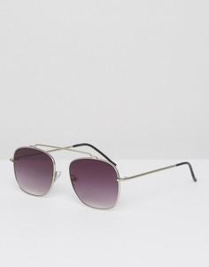 Солнцезащитные очки-авиаторы в серебристой оправе Spitfire Beta Matrix - Серебряный