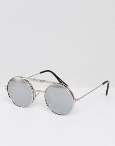 Серебристые круглые солнцезащитные очки Spitfire Lennon - Серебряный