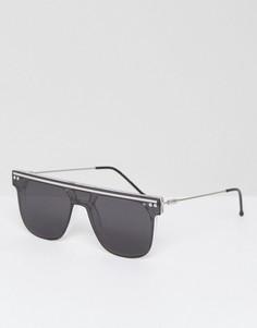 Квадратные солнцезащитные очки-маска Spitfire NY2K - Черный