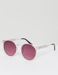 Круглые солнцезащитные очки с красными стеклами Spitfire Postpunk - Красный