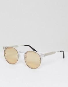 Круглые солнцезащитные очки с желтыми стеклами Spitfire Postpunk - Желтый