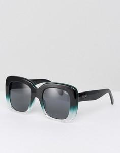 Черные солнцезащитные очки в большой квадратной оправе Quay Australia Day After Day - Черный