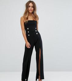 Комбинезон с разрезами на штанинах Boohoo Petite - Черный
