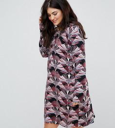 Свободное платье с цветочным принтом и V-образным вырезом Junarose - Мульти
