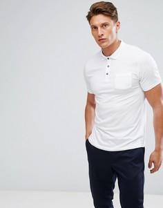 Белое поло стретч Burton Menswear - Белый