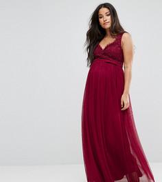 Ажурное платье макси Little Mistress Maternity - Красный