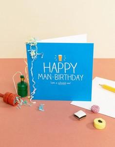 Поздравительная открытка Happy Jackson Happy Man-Birthday - Мульти