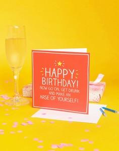 Поздравительная открытка на день рождения Happy Jackson - Мульти