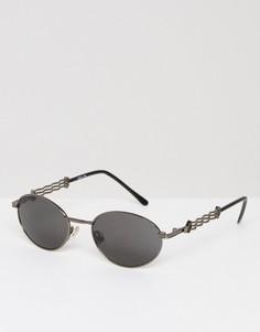 Серебристые круглые солнцезащитные очки Reclaimed Vintage - Серебряный