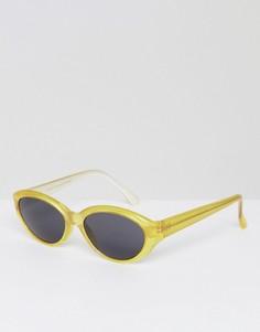 Желтые круглые солнцезащитные очки Reclaimed Vintage Inspired - Желтый