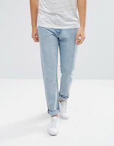 Голубые зауженные джинсы из жесткого денима Weekday Sharp - Синий