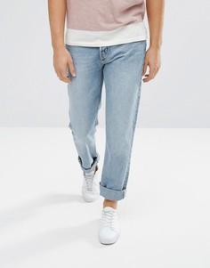Синие прямые джинсы с завышенной талией Weekday - Синий