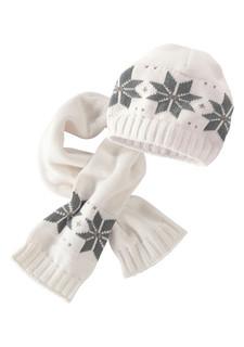 Комплект, 2 части: шапка + шарф KLITZEKLEIN