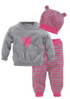 Комплект, 3 части: пуловер + брюки + шапка KLITZEKLEIN