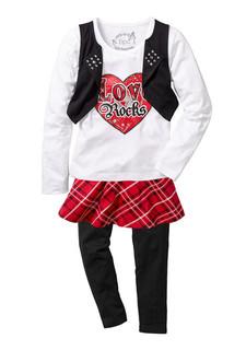 Комплект: юбка + легинсы + кофточка