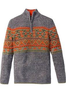 Пуловер Regular Fit (серый меланж) Bonprix
