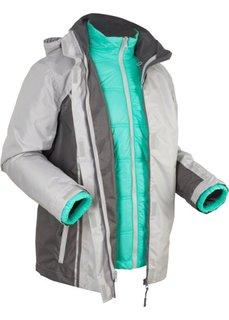 Функциональная куртка 3 в 1 на ватной подкладке (серебристый матовый) Bonprix