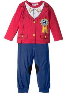 Пижама в жокейском стиле (2 изд.) (красный + ночная синь) Bonprix