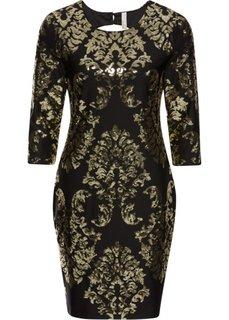Платье с пайетками (черный/золотистый) Bonprix