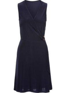 Платье с золотистым кольцом (синий) Bonprix