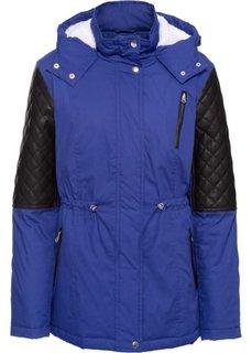 Зимняя куртка из разных материалов (сапфирно-синий) Bonprix
