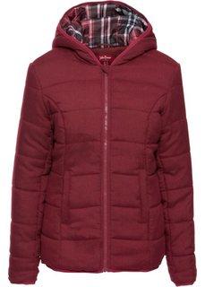 Стеганая куртка на клетчатой подкладке (меланж цвет вечерней зари) Bonprix