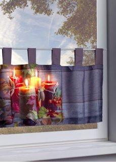 Кухонная штора со светодиодной подсветкой Свечи (коричневый/красный) Bonprix