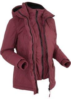 Куртка дизайна 2 в 1 на ватной подкладке (кленово-красный) Bonprix