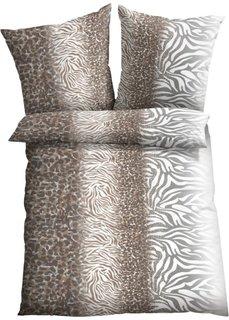Постельное белье Анималистика, линон (коричневый) Bonprix