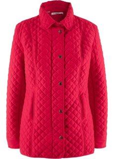 Стеганая куртка с двойной застежкой (красный) Bonprix