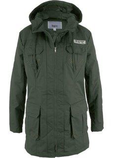 Куртка на легкой ватной подкладке (темно-оливковый) Bonprix