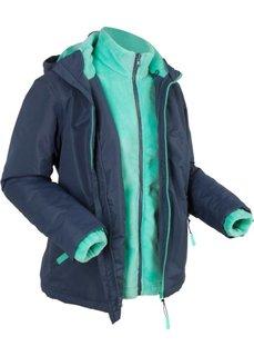 Функциональная куртка 3 в 1, внутренняя куртка из мягкого флиса (темно-синий) Bonprix