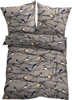 Постельное белье Птицы, линон (натуральный) Bonprix