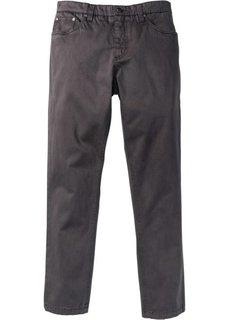 Стрейтчевые брюки Slim Fit, cредний рост (N) (темно-серый) Bonprix