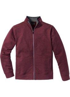 Трикотажная куртка Regular Fit (кленово-красный меланж) Bonprix