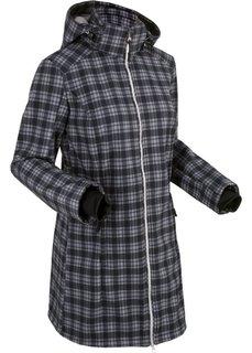 Функциональная куртка софтшелл (черный в клетку) Bonprix