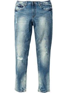 Джинсы-стретч Skinny Fit Straight, длина (в дюймах) 34 (синий «потертый») Bonprix