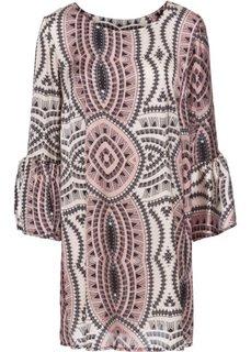 Платье с цветочным принтом (розовый с узором) Bonprix