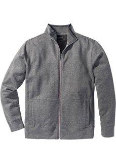 Трикотажная куртка Regular Fit (серый меланж) Bonprix
